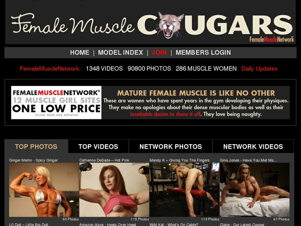 Female Muscle Cougars Account 2016