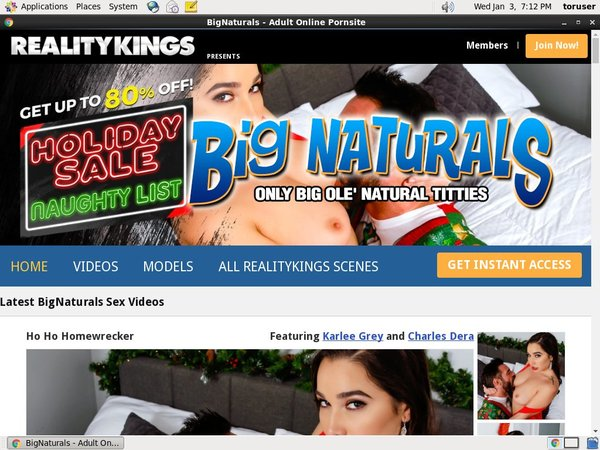Free Bignaturals Premium Accounts