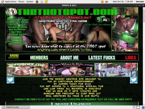 New Thethotspot.com Password