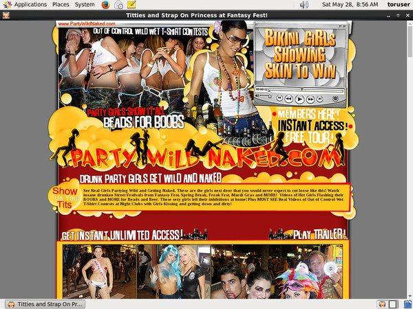 Partywildnaked.com Discount Url