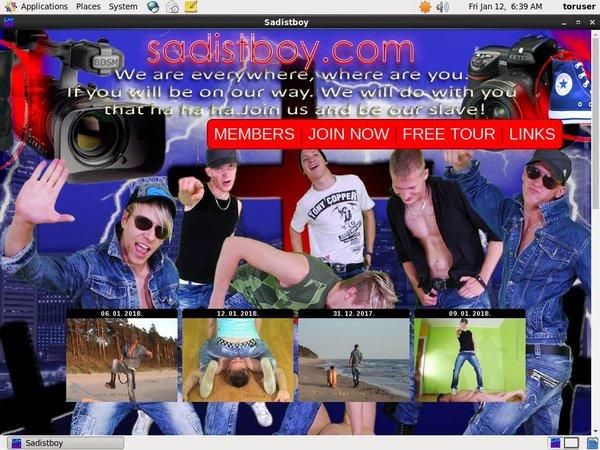 Sadistboy.com Form