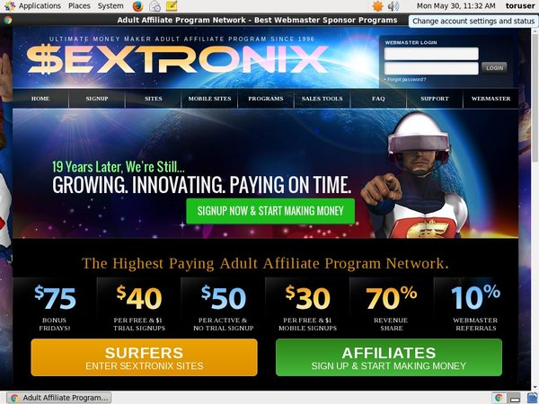 Sextronix.com Account