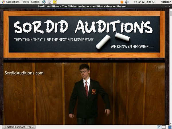 Sordidauditions.com Free Accounts