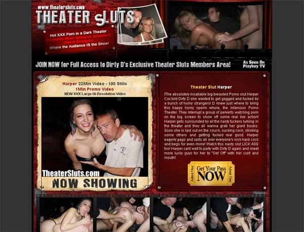 Theater Sluts Pay Using