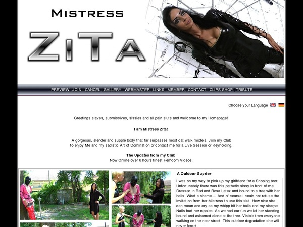 Mistress Zita Porn Passwords