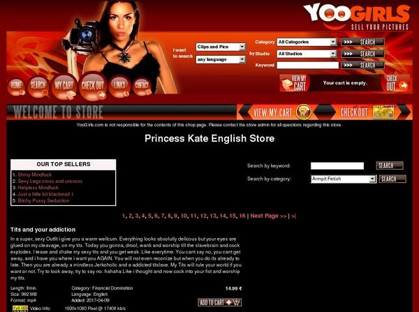Princess Kate English Premium Accounts Free