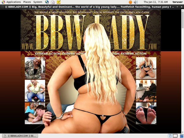 Get BBW Lady Password