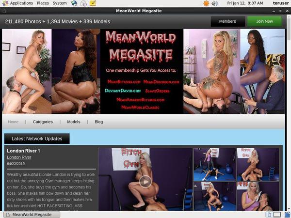 Meanworld Paysite Passwords