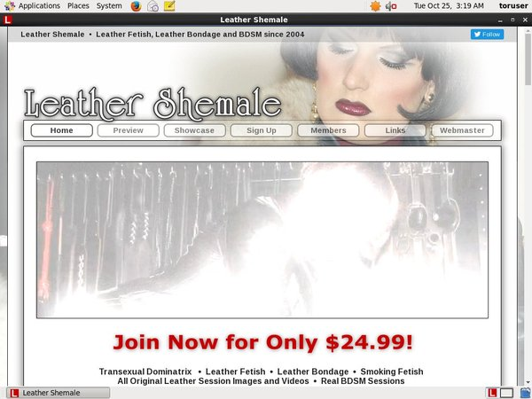 Working Leather Shemale Account