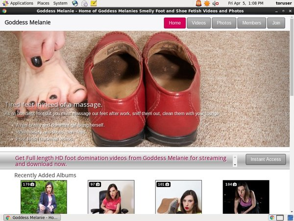 Goddessmelanie.com Free Tube