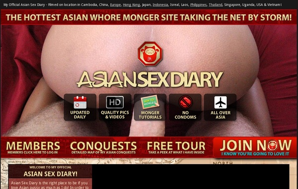 New Asiansexdiary Passwords
