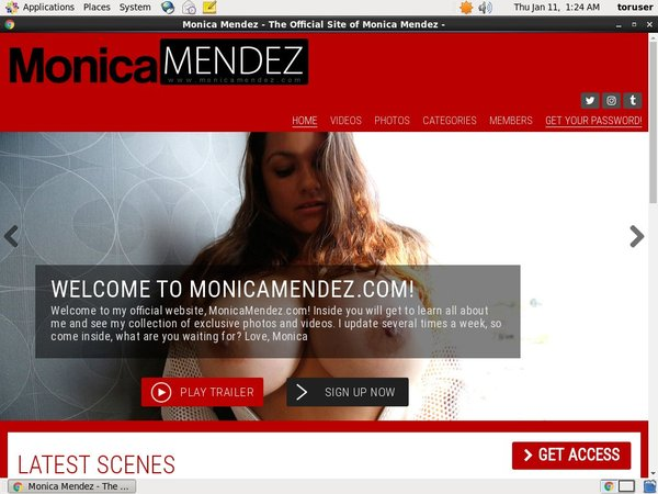 Monica Mendez Sign Up Again